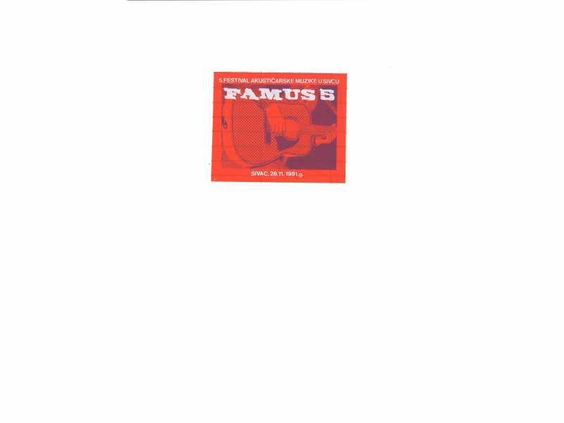 FAMUS  5 - nalepnica   9,5 x 8 cm