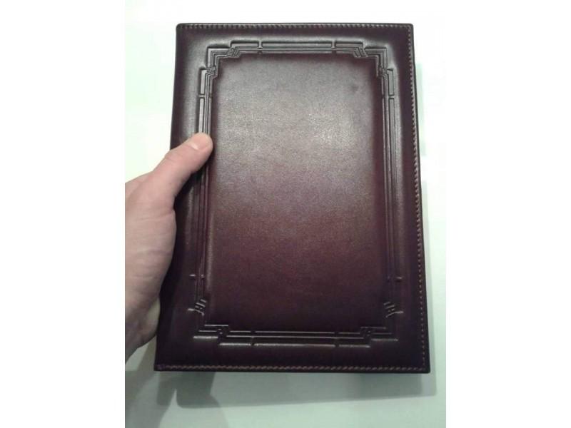 FASCIKLE SA ROKOVNIKOM A4 format, goveđa koža, izrada