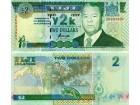 FIJI Fidži 2 Dollars 2000 UNC, P-102