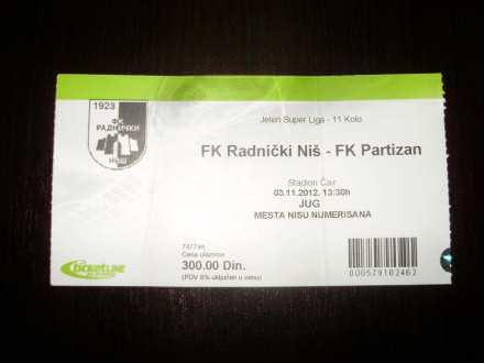 FK Radnicki Nis - FK Partizan 03.11.2012.