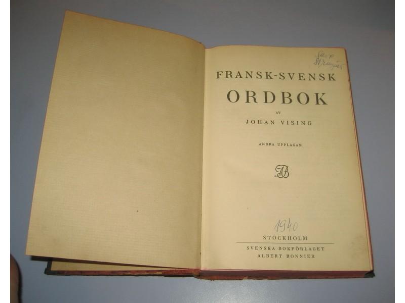 FRANCUSKO ŠVEDSKI REČNIK / FRANSK - SVENSK ORDBOK