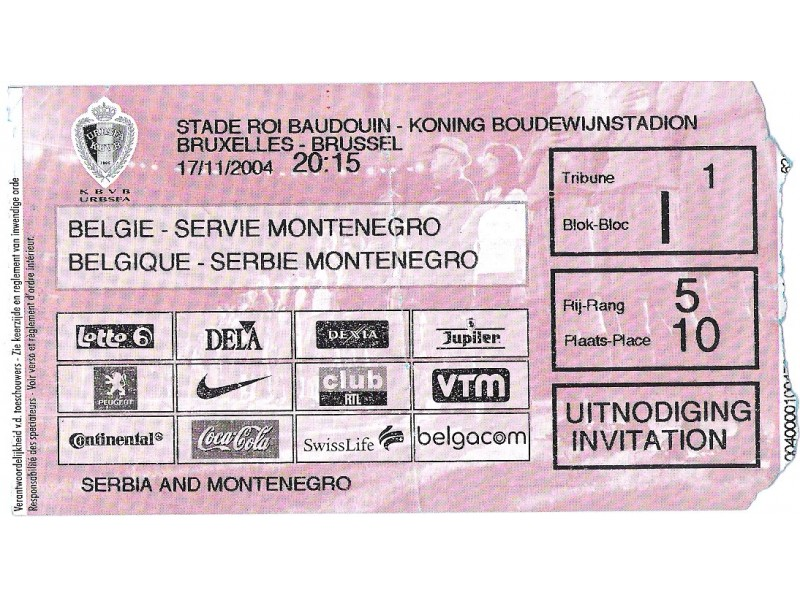 FUDBAL: BELGIJA - SRBIJA I CRNA GORA 17.11.2004