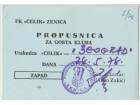 FUDBAL: CELIK (Zenica) - OFK BEOGRAD 28.05.1978 - POZIV