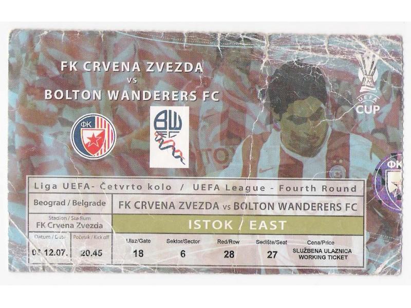 FUDBAL: CRVENA ZVEZDA  - BOLTON WANDERERS 06.12.2007