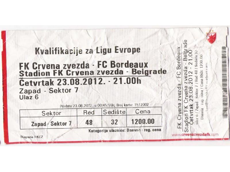 FUDBAL: CRVENA ZVEZDA  - BORDEAUX 23.08.2012 - CELA