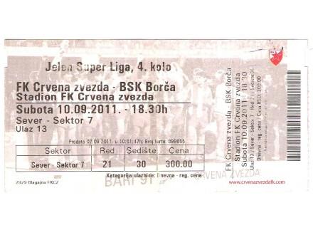 FUDBAL: CRVENA ZVEZDA - BSK (Borca) 10.09.2011 - CELA