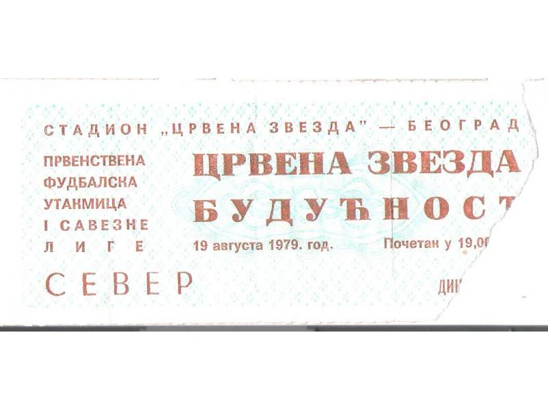 FUDBAL: CRVENA ZVEZDA - BUDUCNOST 19.08.1979