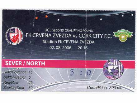 FUDBAL: CRVENA ZVEZDA - CORK CITY 02.08.2006
