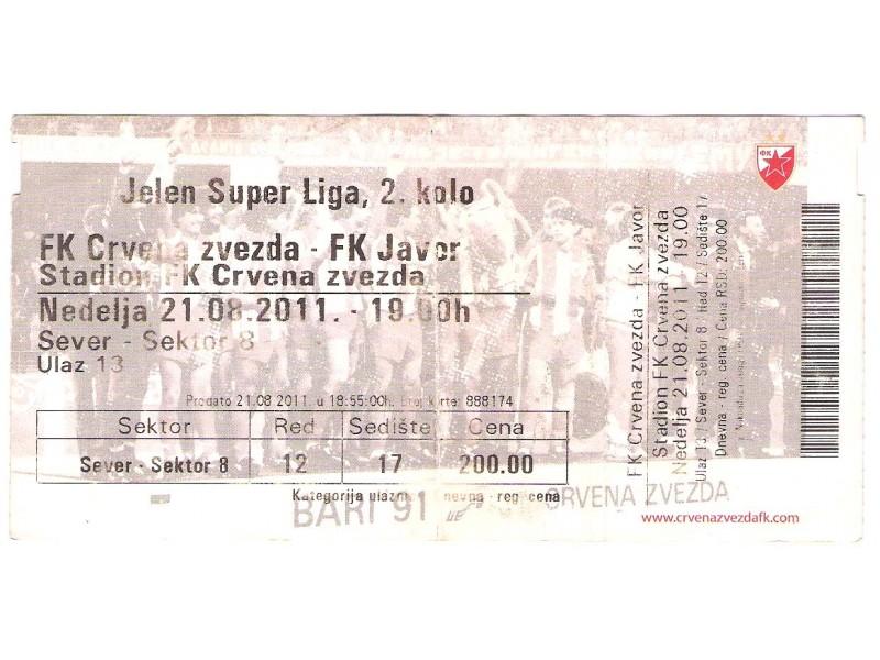 FUDBAL: CRVENA ZVEZDA - JAVOR 21.08.2011 - CELA