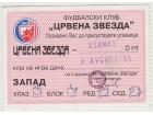 FUDBAL: CRVENA ZVEZDA - KSAMAKS 08.08.1995 - POZIVNICA