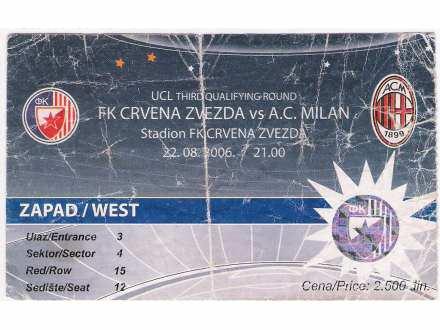 FUDBAL: CRVENA ZVEZDA - MILAN 22.08.2006