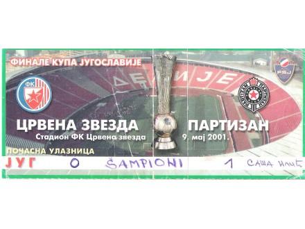 FUDBAL: CRVENA ZVEZDA - PARTIZAN 09.05.2001