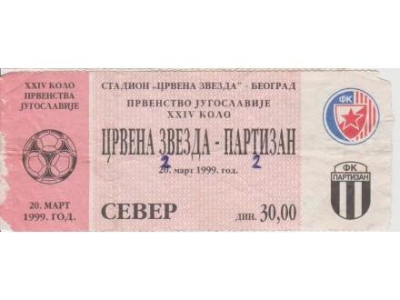 FUDBAL: CRVENA ZVEZDA - PARTIZAN 20.03.1999