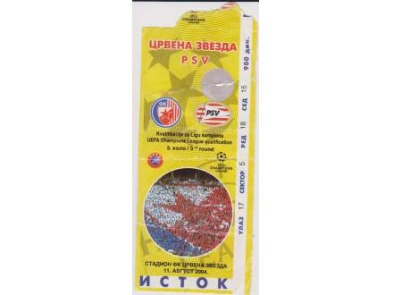 FUDBAL: CRVENA ZVEZDA - PSV 11.08.2004