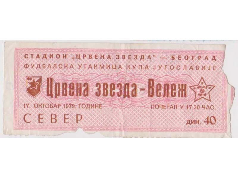 FUDBAL: CRVENA ZVEZDA - VELEZ (Mostar) 17.10.1979