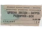 FUDBAL: CRVENA ZVEZDA - ZAGREB 31.03.1957