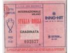 FUDBAL: INTER (Milano) - CRVENA ZVEZDA 04.03.1981