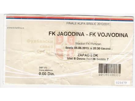 FUDBAL: JAGODINA - VOJVODINA (finale kupa) 08.05.2013