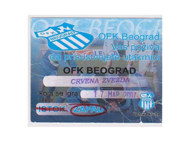 FUDBAL: OFK BEOGRAD - CRVENA ZVEZDA 17.03.2007