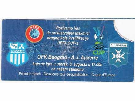 FUDBAL: OFK BEOGRAD - OKSER 08.08.2006 pozivnica