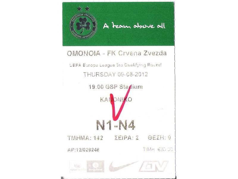 FUDBAL: OMONIA - CRVENA ZVEZDA 09.08.2012