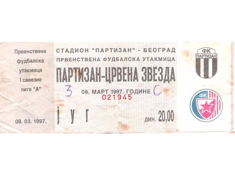 FUDBAL: PARTIZAN - CRVENA ZVEZDA 08.03.1997