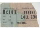 FUDBAL: PARTIZAN - OFK BEOGRAD 11.11.1962
