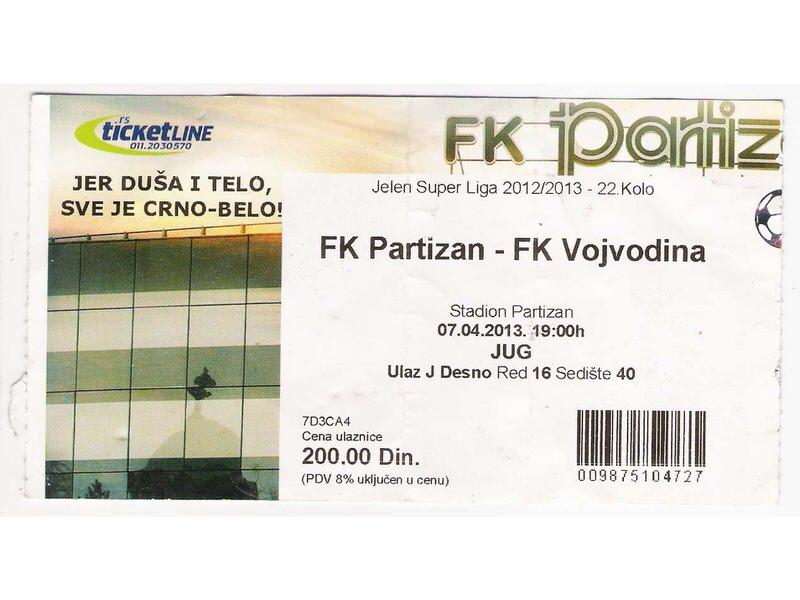 FUDBAL: PARTIZAN - VOJVODINA 07.04.2013
