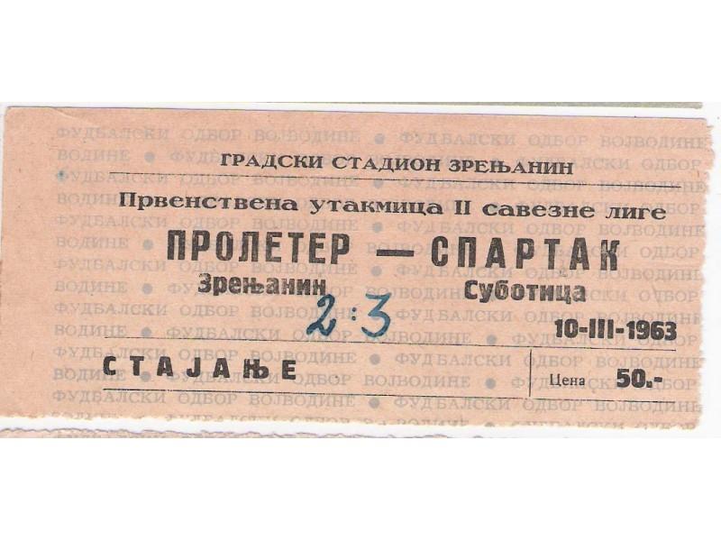 FUDBAL: PROLETER (Zr) - SPARTAK (Su) 10.03.1963