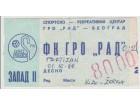 FUDBAL: RAD - PARTIZAN 01.10.1988