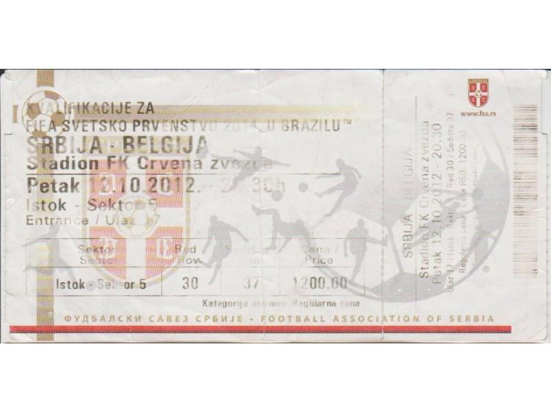 FUDBAL: SRBIJA - BELGIJA 12.10.2012 - NE PONISTENA