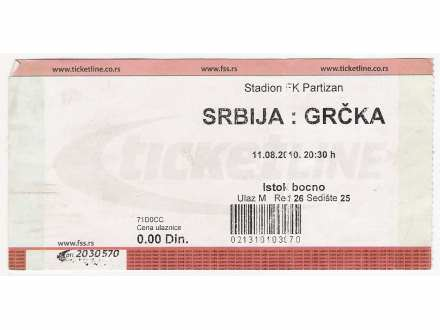 FUDBAL: SRBIJA - GRCKA 11.08.2010