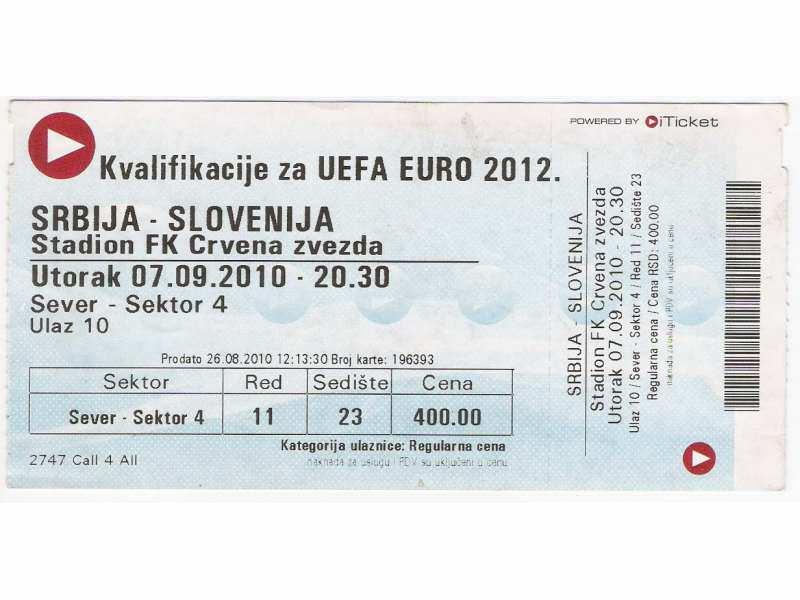 FUDBAL: SRBIJA - SLOVENIJA 07.09.2010 - CELA