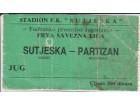 FUDBAL: SUTJESKA - PARTIZAN 27.09.1987