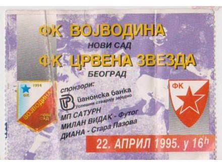 FUDBAL: VOJVODINA - CRVENA ZVEZDA 22.04.1995