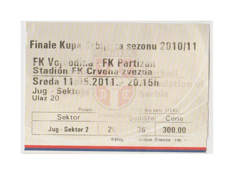 FUDBAL: VOJVODINA - PARTIZAN 11.05.2011