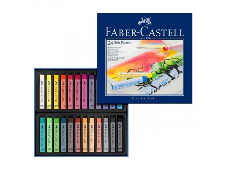 Faber Castell soft pastel crayons 128324