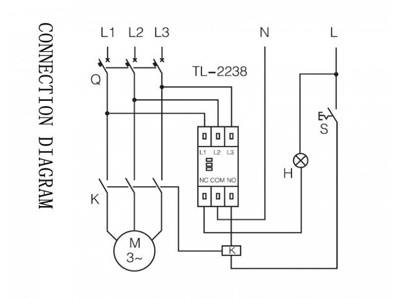 Fazna zastita motora od asimetrije za trofazni motor