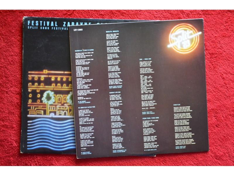 Festival zabavne glazbe - Split song festival - 2LP