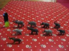 Figure životinja - Slonovi (9 kom)