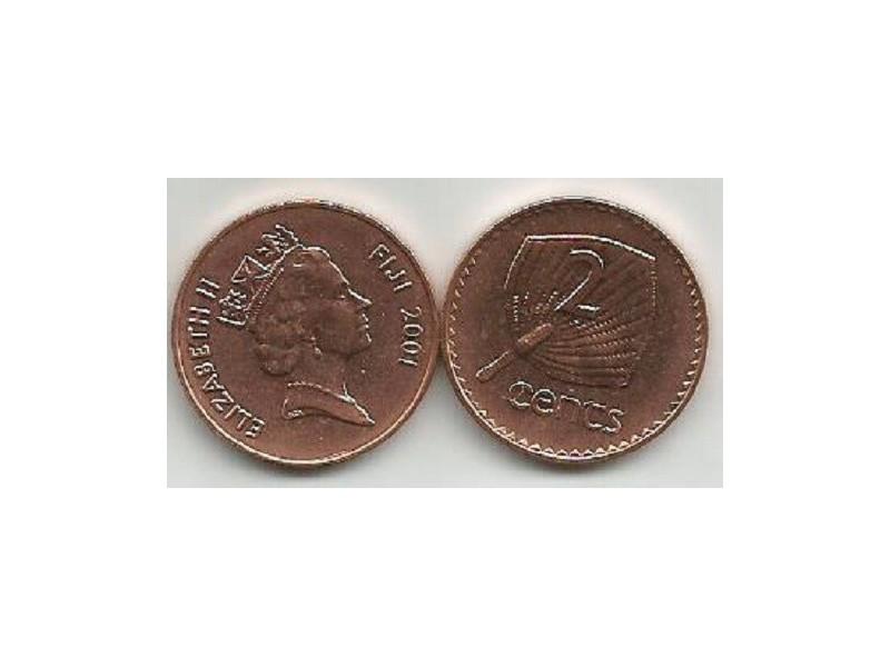 Fiji 2 cents 2001.