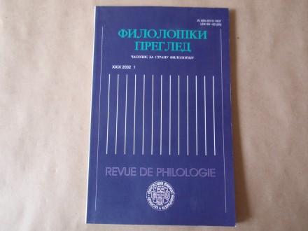 Filološki pregled broj 1 - 2002