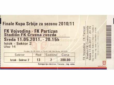 Finale kupa 2011.god.   ,   Vojvodina - Partizan