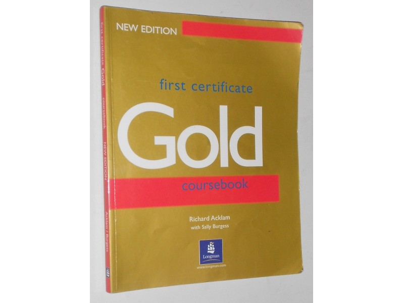 First certificate, Gold coursebook -  Longman