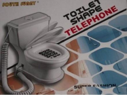 Fixni telefon u obliku wc solje
