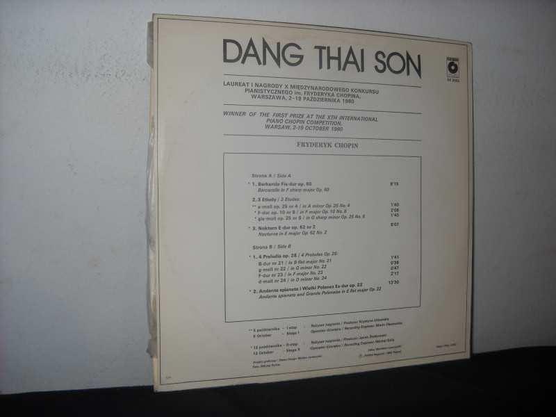 Frédéric Chopin, Dang Thai Son - X Międzynarodowy Konkurs Im. F. Chopina - Warszawa - 1980 / The X International Chopin Competition - Warsaw - 1980 - Kronika Konkursu