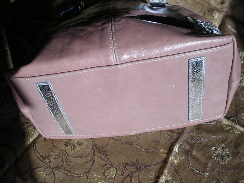 Francesco Biasia  roze-srebrna tasna