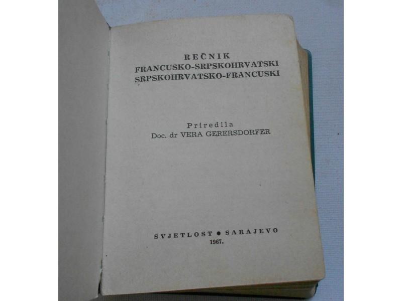 Francusko-srpskohrvatski rečnik - Vera Gerersdorfer