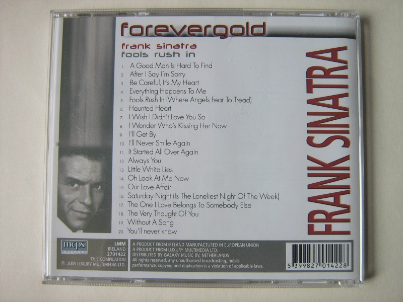Frank Sinatra - Forever Gold - Fools rush in