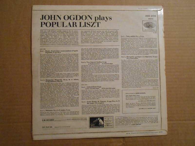 Franz Liszt, John Ogdon - John Ogdon Plays Liszt